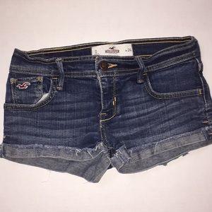 Hollister stitched cuff denim shorts